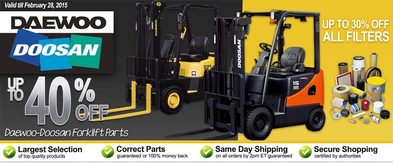 Daewoo-Doosan Online Sale | Forklift Parts